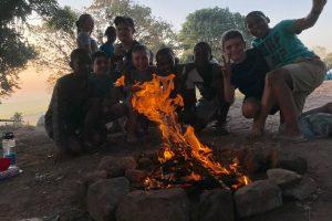 School Camp in Eston KawZulu Natal having fun at Camp El Olam Building fire